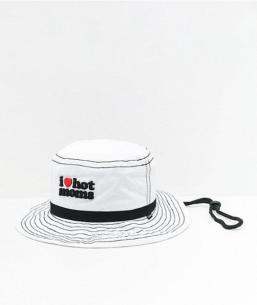 Danny Duncan I Heart Hot Moms White Bucket Hat