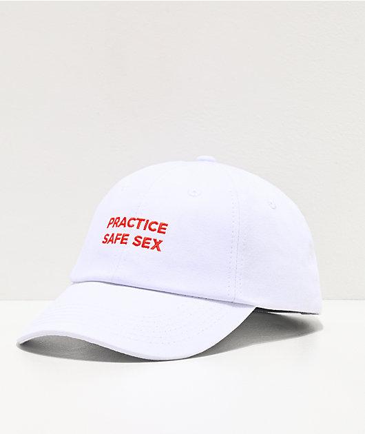 Danny Duncan Practice Safe Sex White & Red Strapback Hat