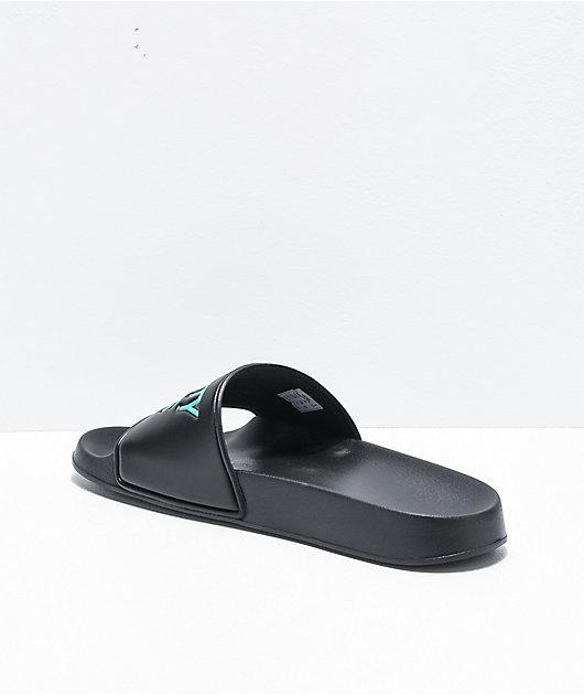 Danny Duncan Virginity Rocks Black & Blue Slide Sandals