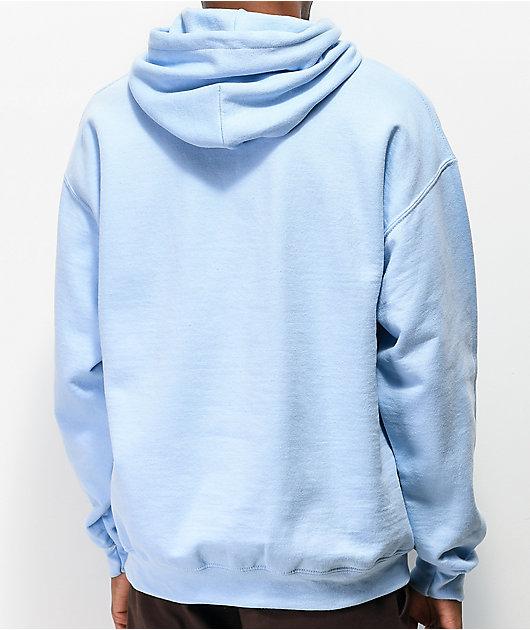 Danny Duncan Virginity Rocks sudadera con capucha azul claro y blanca