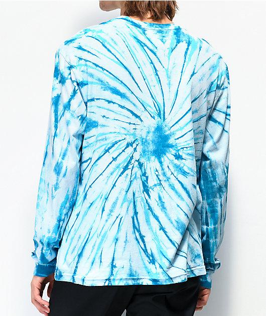 Danson Otter Love Blue Tie Dye Long Sleeve T-Shirt