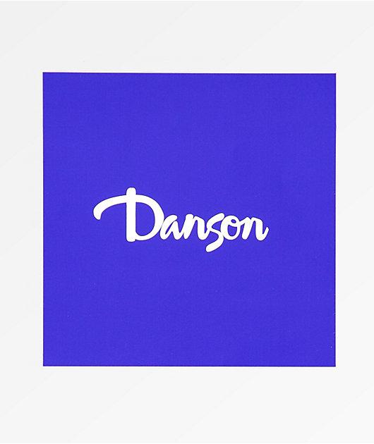 Danson Script Blue and White Stickers