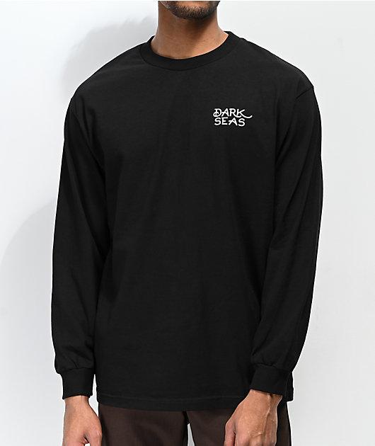 Dark Seas Cobra Black Long Sleeve T-Shirt