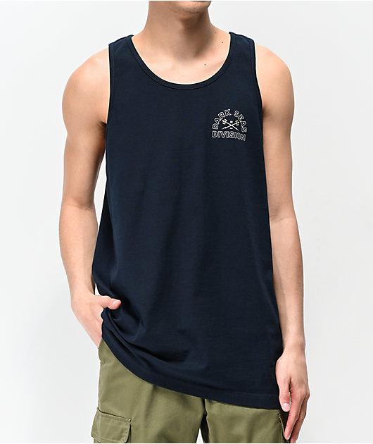Dark Seas Watermarker camiseta sin mangas azul marino