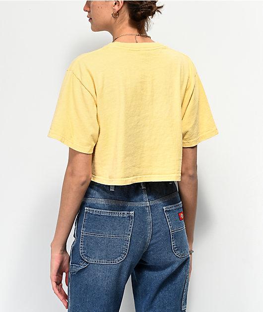 Dark Seas x Daggerz Tecate Yellow Crop T-Shirt