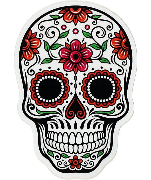 Day Of The Dead Rose Sticker