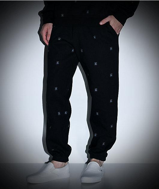 Deathworld All Over Spider pantalones deportivos negros