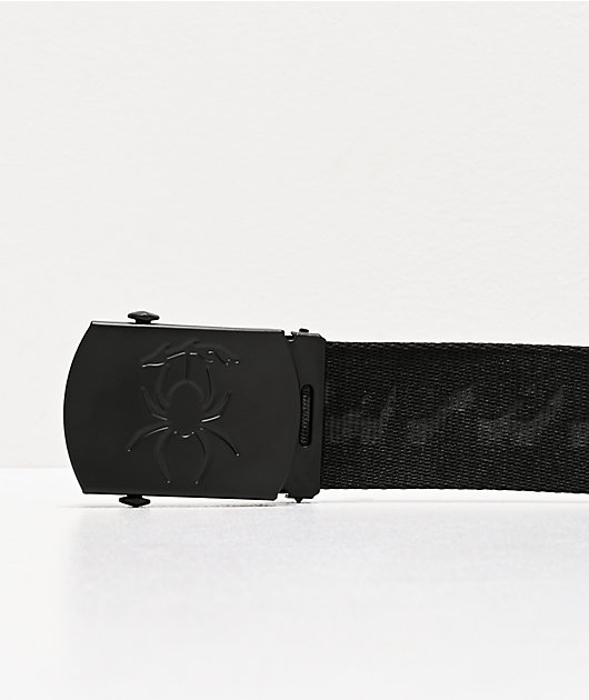 Deathworld Arachnid Black Web Belt