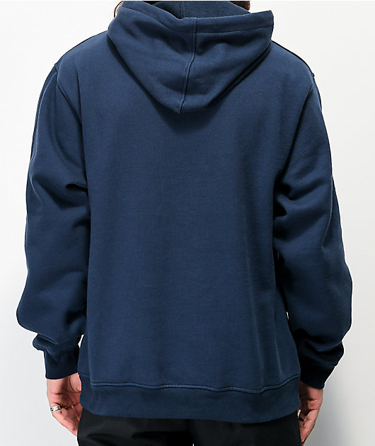 Deathworld Chainstitch Navy Hoodie