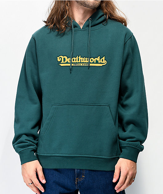 Deathworld Coney Island Dark Green Hoodie