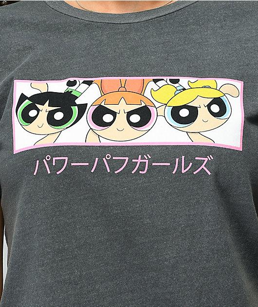 Desert Dreamer Powerpuff Kanji Black Pigment Dyed T-Shirt