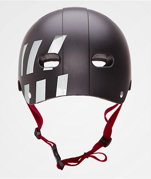 Destroyer Certified Black, White & Red Skateboard Helmet