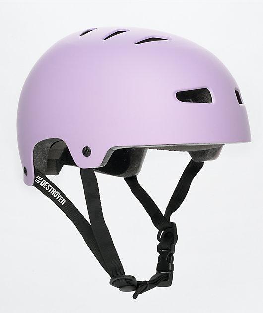 Destroyer Fairmont Certified Pale Purple Skateboard Helmet