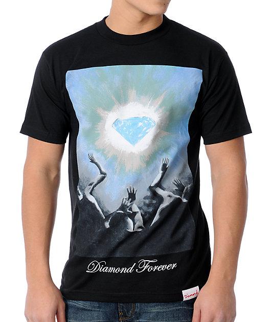 New Diamond Supply Co.Men/'s Black S//S Sport T Shirt RDAM-480