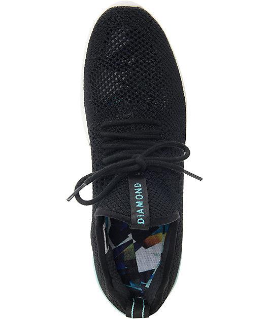 Diamond Supply Co Men/'s All Day Lite Black Mesh Sneaker NW//OB