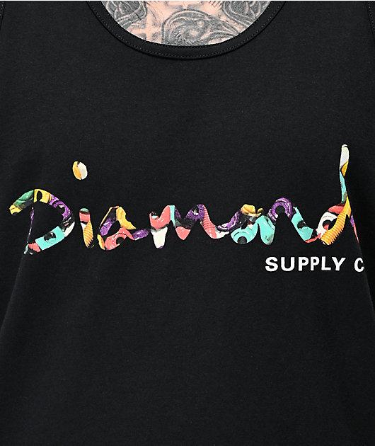 Diamond Supply Co. Bolts Script Black Tank Top