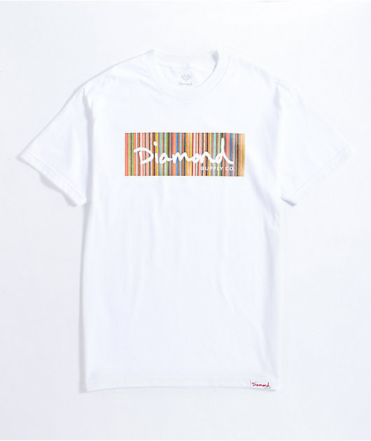 Diamond Supply Co. Color Ply Box White T-Shirt