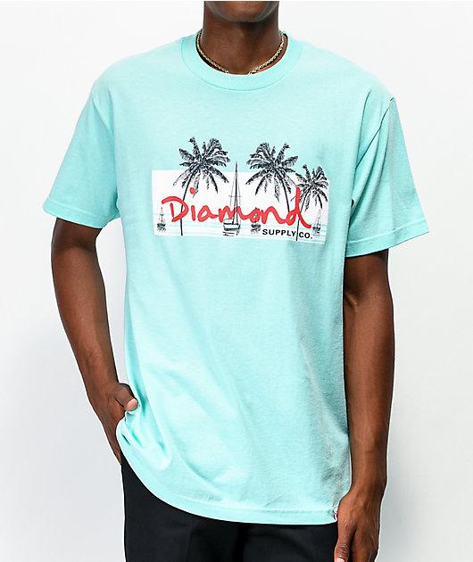 Diamond Supply Co. Marina Box Logo Mint T-Shirt