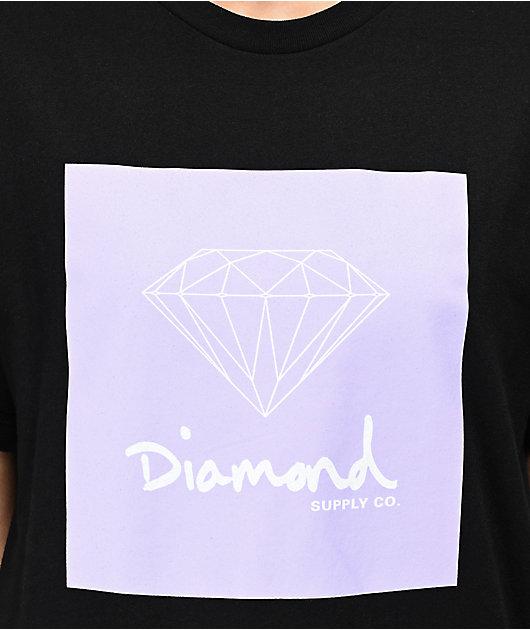 Diamond Supply Co. OG Sign Black & Lavender T-Shirt