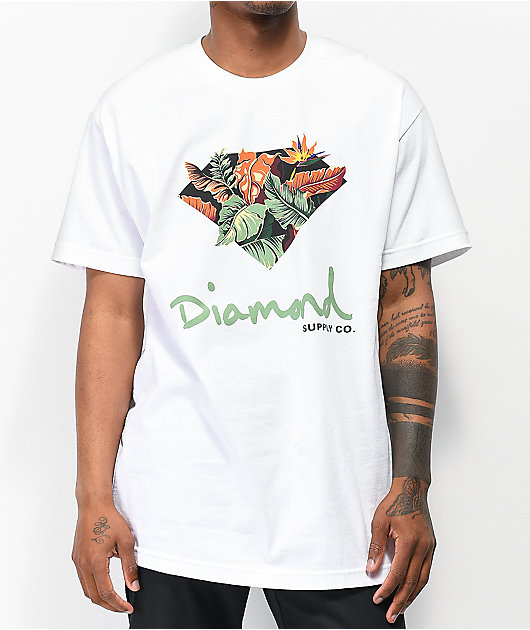 Diamond Supply Co. Paradise OG Sign camiseta blanca