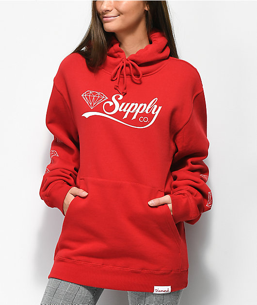 Diamond Supply Co. Red Supply Co. Script Hoodie