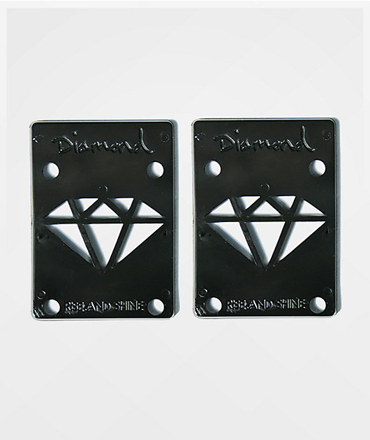 Diamond Supply Co. Rise & Shine Black Riser Pads