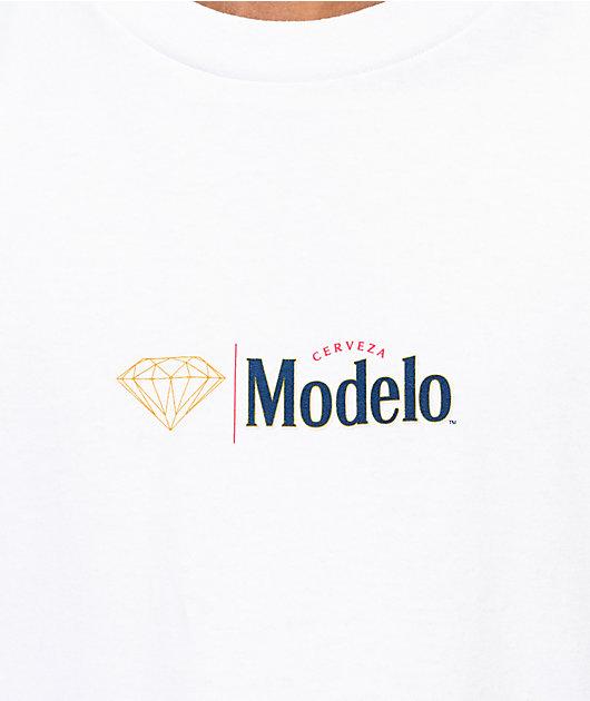 Diamond Supply Co White x Modelo Long Sleeve T-Shirt
