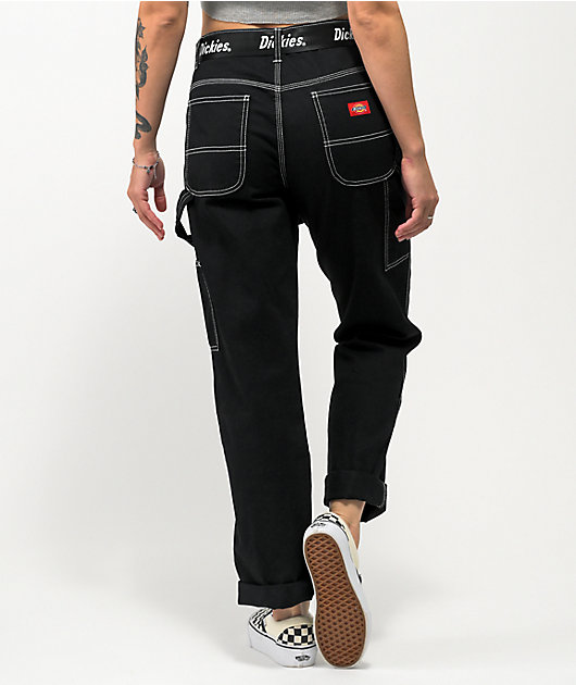 Dickies Belted Black Carpenter Pants