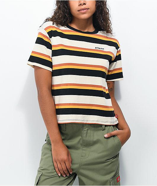 Dickies Black, Yellow, & Orange Stripe T-Shirt