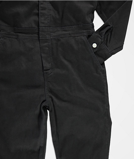Dickies Black Button Front Coveralls