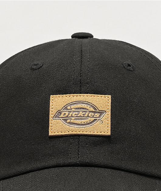 Dickies Black Canvas Strapback Hat