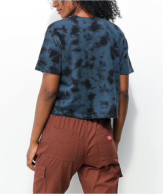 Dickies Blue Tie Dye Crop T-Shirt