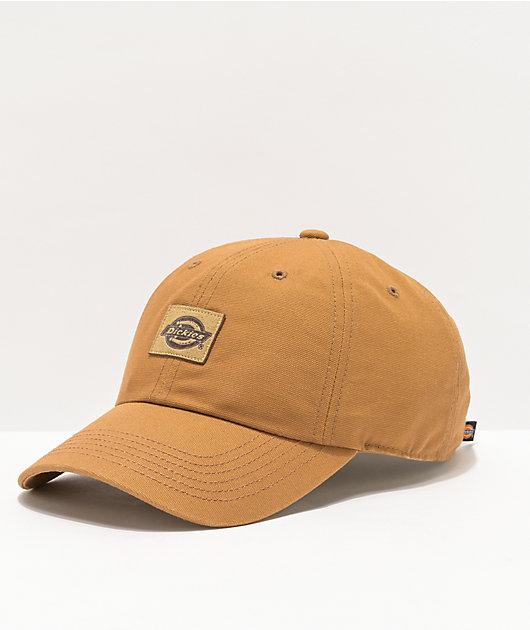 Dickies Brown Canvas Strapback Hat