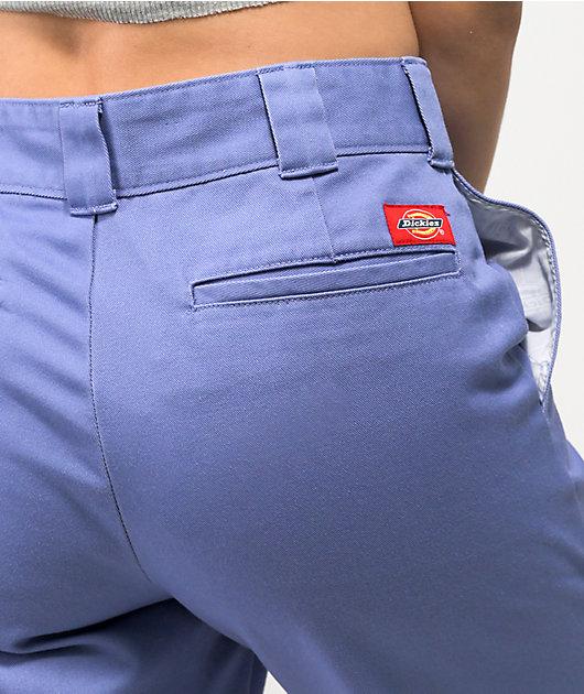 Dickies Chambray Roll Hem Crop Work Pants