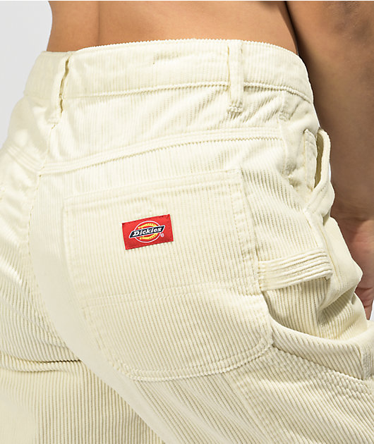 Dickies Cream Corduroy Carpenter Pants