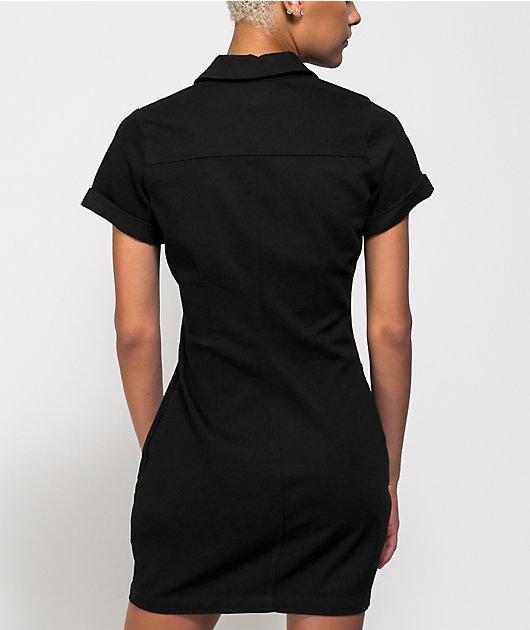 Dickies Cuffed Black Worker Dress