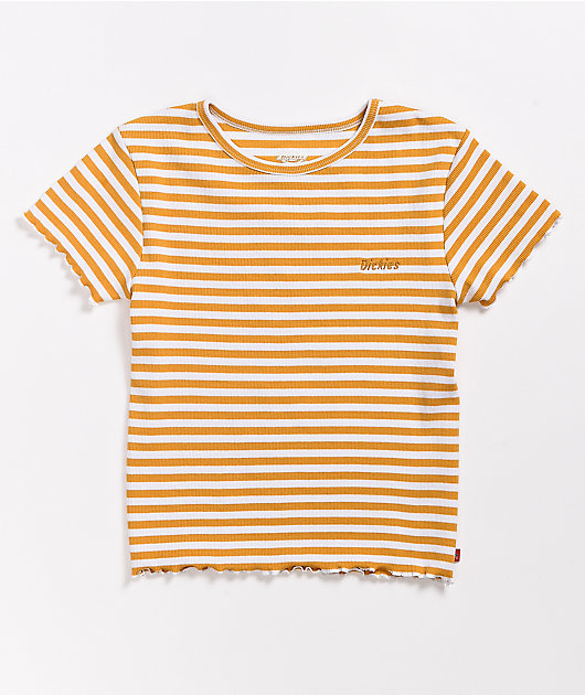 Dickies Golden Stripe Rib Knit Baby T-Shirt