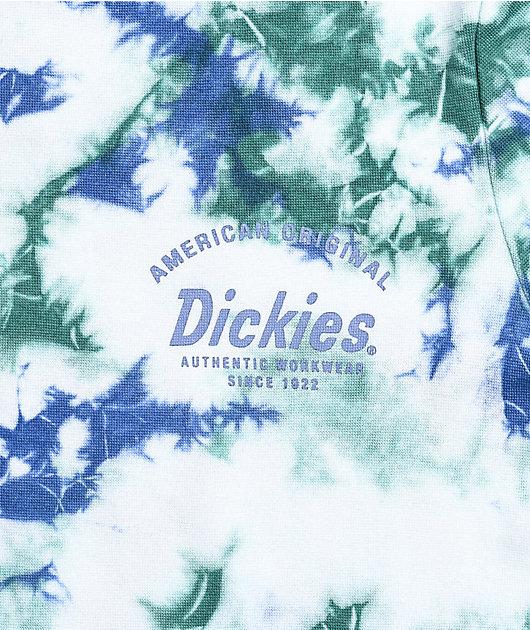 Dickies Green & Blue Tie Dye Crop T-Shirt