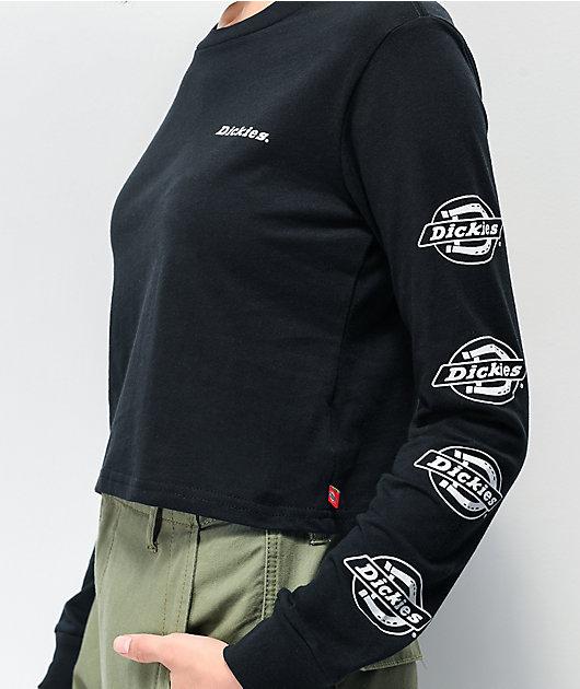 Dickies Icon Logo camiseta corta negra de manga larga negra