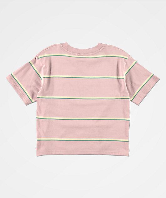 Dickies Lilac Stripe Crop T-Shirt