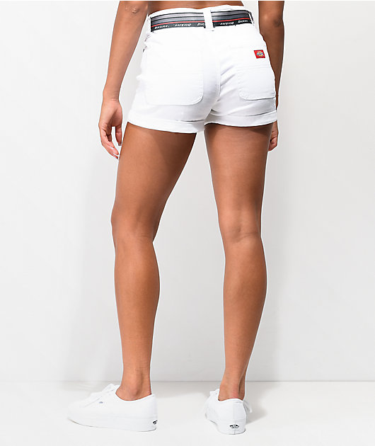 Dickies Mom Shortie shorts blancos