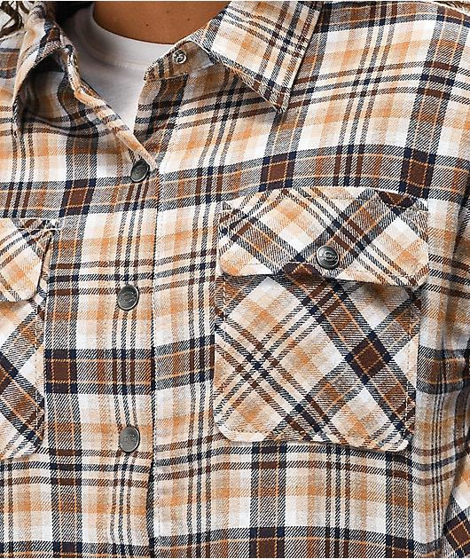Dickies Oversized Tan Plaid Flannel Jacket