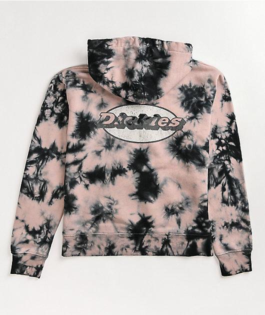 Dickies Pink & Black Tie Dye Hoodie