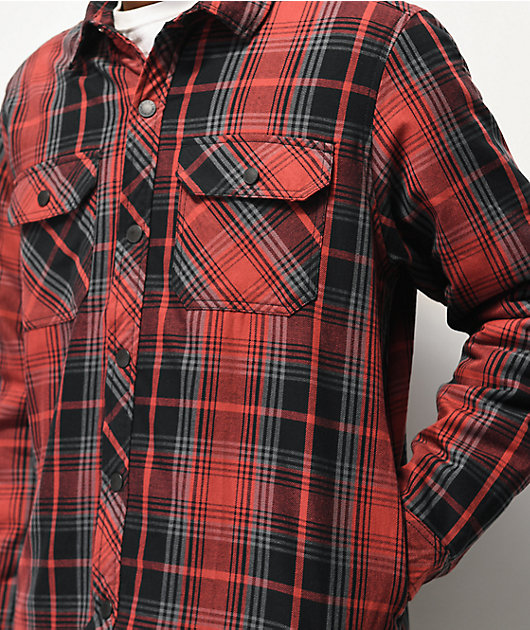 Dickies Red & Black Sherpa Flannel Shirt