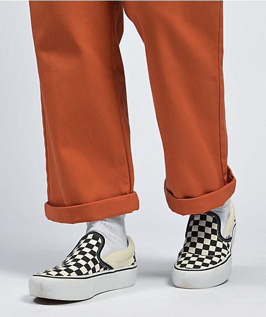 Dickies Roll Hem Auburn Cropped Work Pants