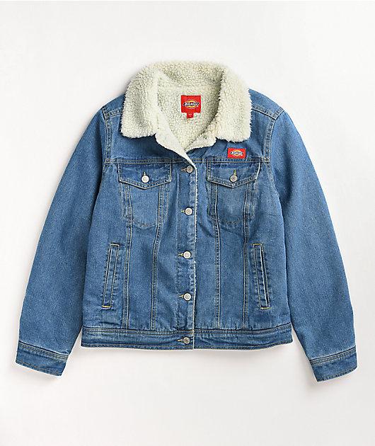Dickies Sherpa Lined Blue Denim Jacket