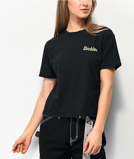 Dickies Skewed Check camiseta corta negra