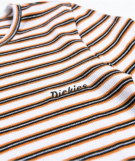Dickies Stripe Rust Crop Long Sleeve T-Shirt