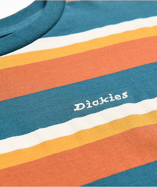 Dickies Tomboy Auburn & Blue Crop T-Shirt