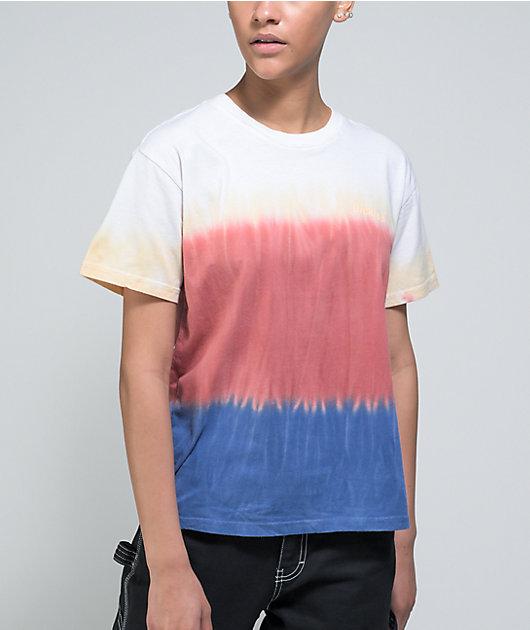 Dickies White, Apricot, & Blue Dip Dye T-Shirt
